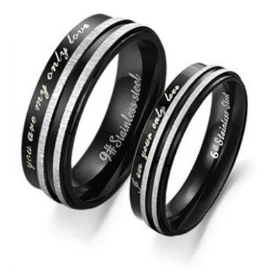 ONE PIECE Letter Decorated Lover Couple Ring