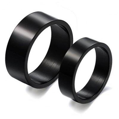 ONE PIECE Chic Black Color Lover Couple Ring