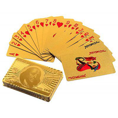 Luxury 24K Gold Foil Poker Playing Cards Deck Carta de Baralho Highly Artistic Value