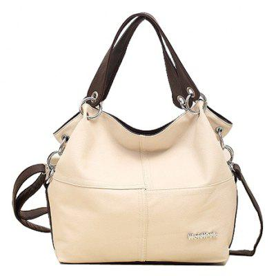 Metallic Letter Design Shoulder Bag For Women