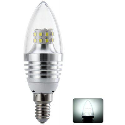 E14 SMD - 2835 x 25 LEDs 5W White Light LED Candle Light 480LM 85  -  265V (Silver Flame)