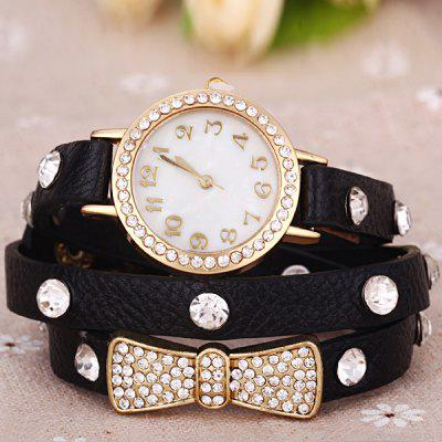 Female Quartz Wrist Chain Watch Leather watchband Round DialWomens Watches<br>Female Quartz Wrist Chain Watch Leather watchband Round Dial<br><br>Available Color: Blue,Black<br>Band material: Leather<br>Case color: Gold<br>Case material: Steel<br>Clasp type: Pin buckle<br>Movement type: Quartz watch<br>Package Contents: 1 x Watch<br>Product size (L x W x H): 57.00 x 2.90 x 0.80 cm / 22.44 x 1.14 x 0.31 inches<br>Product weight: 0.0340 kg<br>Shape of the dial: Round<br>Style: Bracelet, Diamond, Fashion&amp;Casual<br>The band width: 0.9 cm / 0.4 inch<br>The dial diameter: 2.9 cm / 1.1 inch<br>The dial thickness: 0.8 cm / 0.3 inch<br>Watches categories: Female table