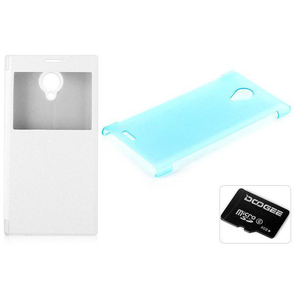 DOOGEE DG550 Accessory Set Leather Case + SD Card + Transparent Back Case