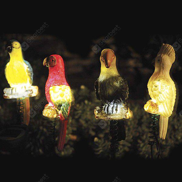 4pcs Simulation Birds Outdoor Waterproof LED Solar Garden Lights Landscape  Stake Lamps