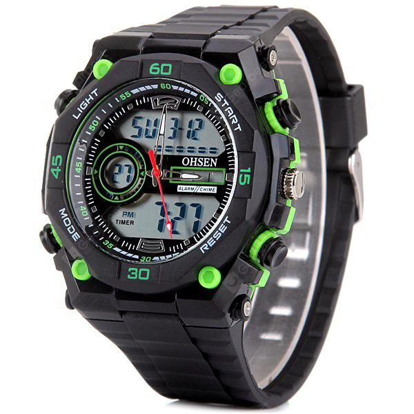 OHSEN AD2812 Male Military Sports Watch Waterproof Digital LED Wristwatch  Dual Display Alarm Chronograph - 0.00€  8a79b4e396