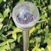 Durable 2pcs Crackle Glass Ball Style Solar Night Light Suitable for Pathway / Garden / Yard / etc.