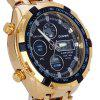 Quamer SD - 165 Dual Movt Male Watch - BLACK AND GOLDEN