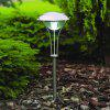 3 White Light LEDs Stainless Steel Solar Lawn Lamp Outdoor Pathway Garden Yard - SILVER