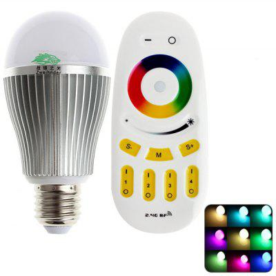 Zweihnder 800LM E27 9W LED Globe Bulb and Remote Controller Set (6000 - 6500K AC 85 - 265V)