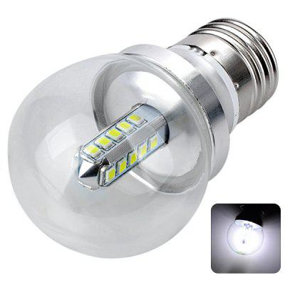 Buy E27 4W SMD 2835 Energy Saving White Light Silver 20 LED Ball Bulb 6000K 400LM AC 85 265V COOL WHITE for $6.08 in GearBest store
