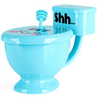 Plastic Closestool Shape Cup Colorful Party Mug with Cover Spoon