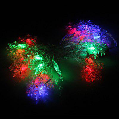 4M 28 - LED 220V RGB Crystal Snowflake Shaped String Light Christmas Holiday Wedding Brithday Party Light  -  EU Standard