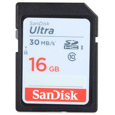Sandisk 16GB Ultra High Speed 30MB/s Class 10 SDHC SD Memory Card