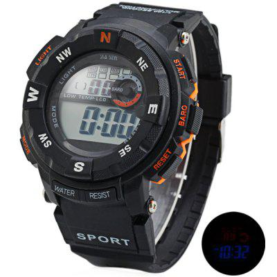 Jiasen 952D Military LCD Watch Light Date Stopwatch Week for Sports en Gearbest