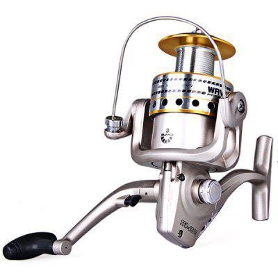 Portable Fishing Reel Gear Ratio 5.1:1 TFB - 6000 with 3BB Stainless Steel Ball Bearing Long Cast Spool Spinning Reel