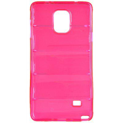 High Quality Transparent TPU Material Pure Color Protective Back Cover Case for Samsung Galaxy Note 4 N910