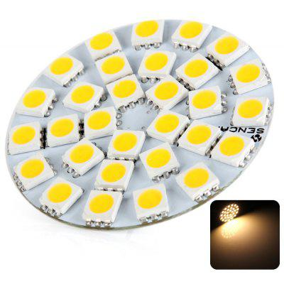 Sencart Round Style G4 6W Warm White Light 280  -  360lm 30 SMD 5050 LEDs Car Reading Lamp Turn Signal Light (12V)