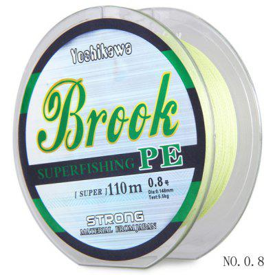 110m NO.0.8 PE Braided Fishing Line