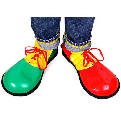 2Pcs Detail - oriented Halloween Clown Shoes Fancy Ball Christmas Cosplay Props Party Fools Day Decoration