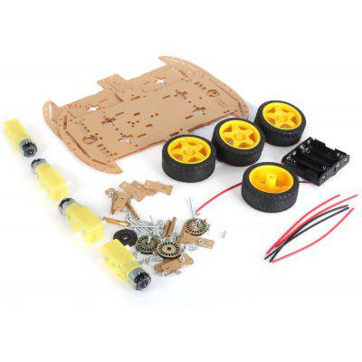 ZK - 4 4WD Intelligent Chassis Car DIY Kit with Speed Encoder Battery Box