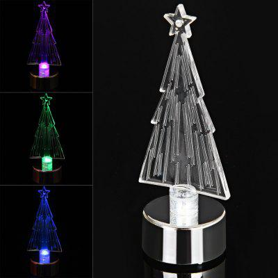 PZCD MY - 10 Battery Operated Acrylic Decorationg Christmas Tree for Chrismas Ornament