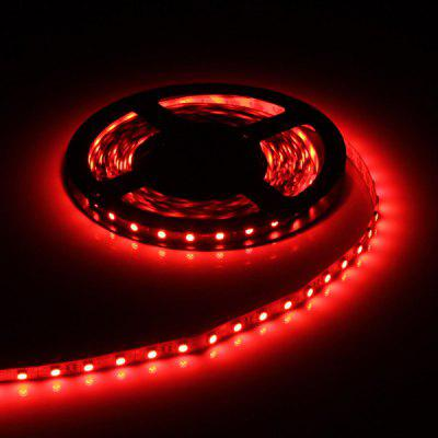 5M 75W 300 x SMD 5050 Flexible LED Strip Light  -  Red Light DC - 12V