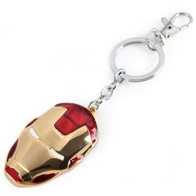 Durable Iron Man Head Mask Key Chain