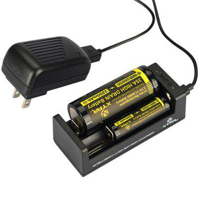 Xtar MC2 0.5A Mini USB Battery Charger Compatible with 18500 18650 18700 Batteries (2 Slots) от GearBest.com INT