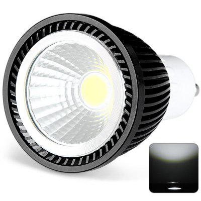GU10 Based 5W COB Spot Lamp White Light Spot Light with Black Cover  -  500LM