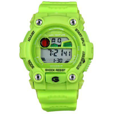 8951 LED Military Sports Watch Colorful Light Stopwatch Month Day Week AlarmSports Watches<br>8951 LED Military Sports Watch Colorful Light Stopwatch Month Day Week Alarm<br><br>Available Color: Green,Blue,Red,Black<br>Band material: Rubber<br>Clasp type: Pin buckle<br>Display type: Numbers<br>Movement type: Light table<br>Package Contents: 1 x Watch<br>People: Unisex table<br>Product size (L x W x H): 27.0 x 5.0 x 1.5 cm / 10.6 x 2.0 x 0.6 inches<br>Product weight: 0.054 kg<br>Shape of the dial: Round<br>Special features: Stopwatch, Alarm Clock, Calendar, Week, Date<br>The band width: 2.1 cm / 0.9 inches<br>The dial diameter: 5.0 cm / 2.0 inches<br>The dial thickness: 1.5 cm / 0.6 inches<br>Watch style: Fashion&amp;Casual<br>Water resistance: 200 meters
