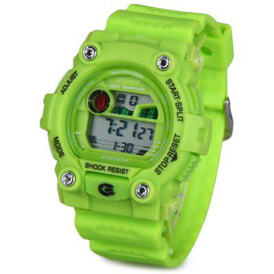8951 LED Military Sports Watch Colorful Light Stopwatch Month Day Week Alarm
