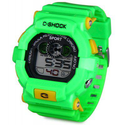 Buy GREEN 939 LED Military Watch Light Chronograph Week Date for Sports for $5.87 in GearBest store