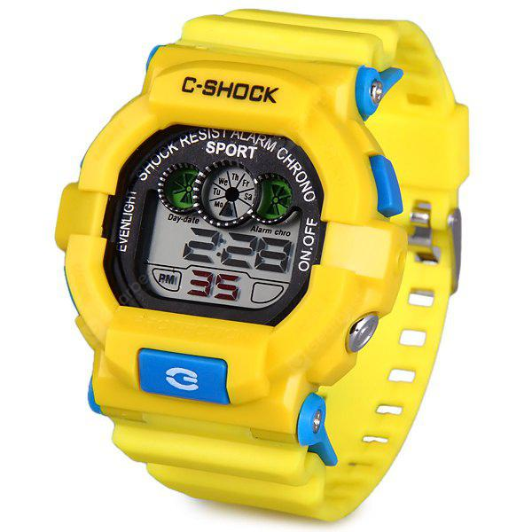 YELLOW 939 LED Military Watch Light Chronograph Week Date for Sports