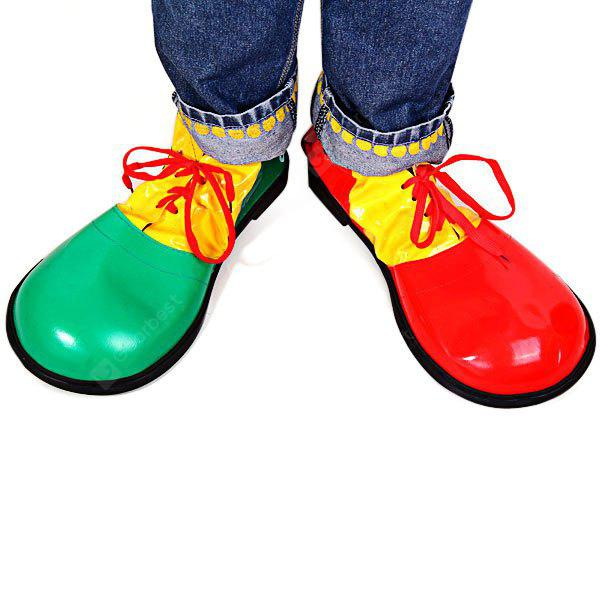 2Pcs Detail - Orientado a los Zapatos de payaso de Halloween Fancy Ball Cosplay de Navidad Props Fool Party Day Decoration