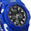 ZFENG 12013 Superb LED Sports Watch with Digital Display Week Date Round Dial and Rubber Band - BLUE