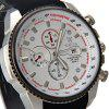 Valia 8258 - 2 Male Quartz Watch Round Dial 30M Waterproof Day Rubber Strap - WHITE