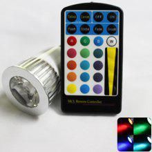 Zweihnder E27 5W 250Lm RGB Dimmable LED Spot Light with Remote Control (AC 85 - 265V)