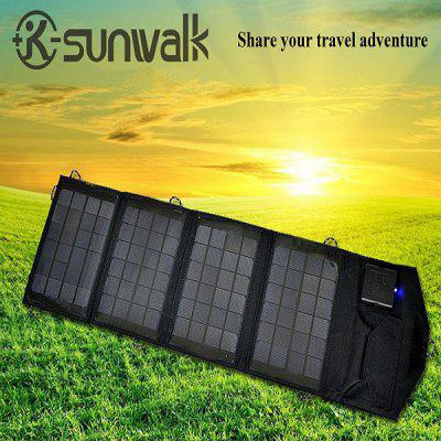 SUNWALK-140 14W Outdoor Foldable Portable Solar Charger Pack Mobile Power Supply