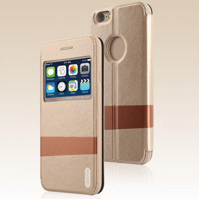 USAMS Lange Series Soft TPU and Artificial Leather Material Protective Cover Case with View Window for iPhone 6  -  4.7 inches