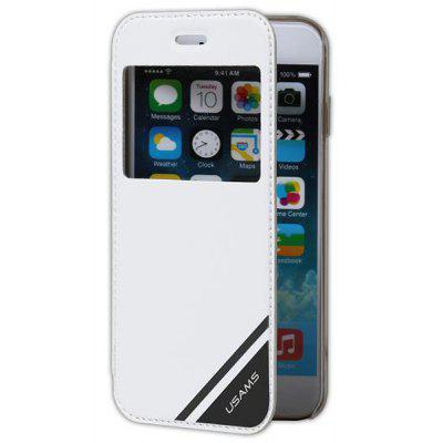 USAMS PC and Artificial Leather Material Protective Cover Case with View Window for iPhone 6  -  4.7 inches