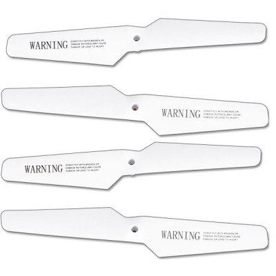 4Pcs Syma X5 - 02 Extra Propeller Main Blade RC Copter Helicopter Accessories Aircraft Supplies Parts Kit