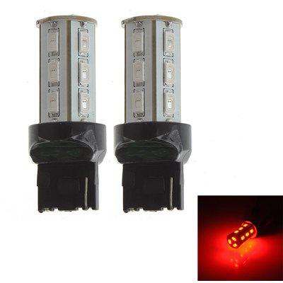 Zweihnder 2pcs T20 12W 800lm Red Light 18 SMD LEDs 12  -  24V Car Brake Light