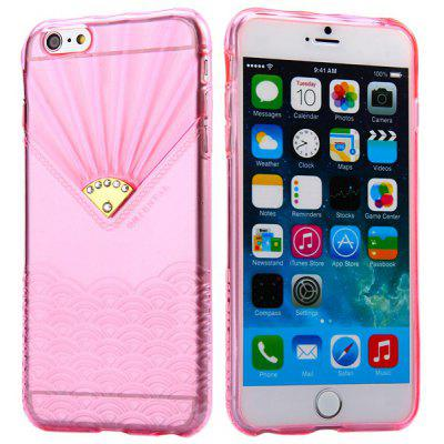 Transparent TPU Material Spindrift Pattern and Diamond Design Protective Back Cover Case for iPhone 6 Plus  -  5.5 inches