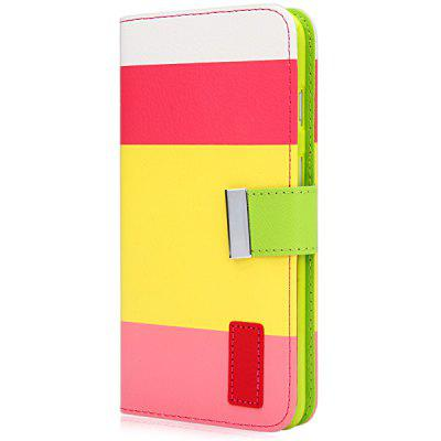 Artificial Leather and Silicone Material Three Color Design Stand Cover Case with Lanyard and Card Holder for iPhone 6 Plus  -  5.5 inches