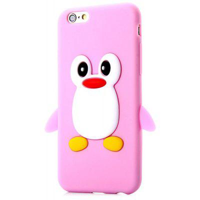 Buy PINK Fashionable Penguin Pattern Silicone Material Back Cover Case for iPhone 6 4.7 inches for $3.09 in GearBest store