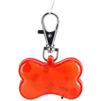 Bone Shaped Pet Flashlight Collar Safety Night Vishion Light