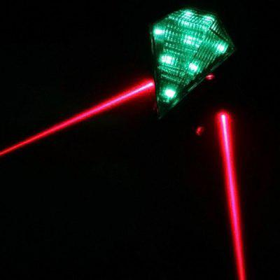 Super Bright 8 LEDs 2 Laser Lamps Bicycle Taillight Rechargeable Track Bike Tail Light Cycling MTB Supplies