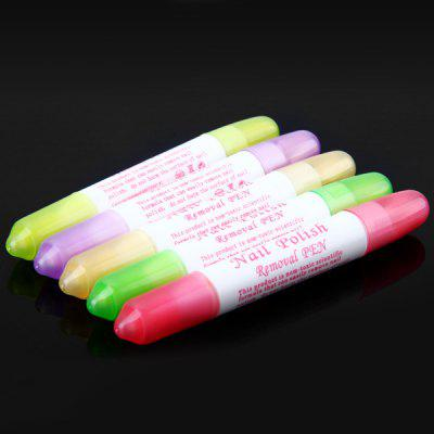 5pcs Nail Beauty Polish Remover Pen Nail Correct Pen