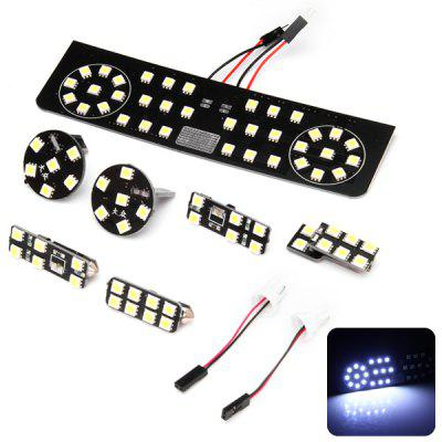 7pcs Car White Light LED Lamp Set Interior Light for Volkswagen GOLF Variant Magotan Variant