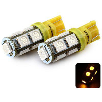 Sencart T10 5050 9 LEDs 2W 560 - 590nm Wavelength Yellow Light Car Turn Signal Lamp DC 12V  (2 pcs)